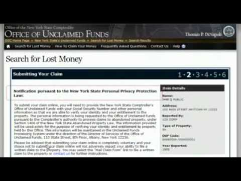 Find Lost Money: The Unclaimed Funds Tutorial
