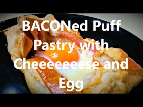 Breakfast Crunchy Puff Pastry with Bacon, Cheese and Egg! #3