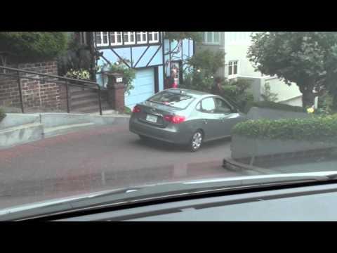 Driving Down Lombard Street San Fancisco