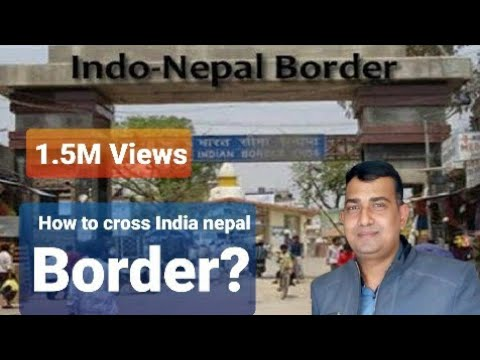 India-Nepal border crossing at sonauli