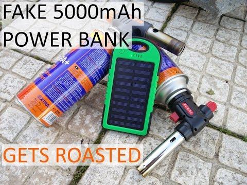 Gas Torch VS Solar Power Bank