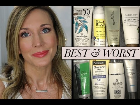 Best & Worst! Testing Mineral Sunscreen for Face 2017