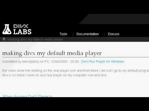 How-To Set A DIVX As The Default On A Media Player