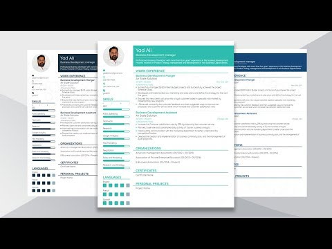 How to Create and Design Functional Resume in Microsoft word 2016