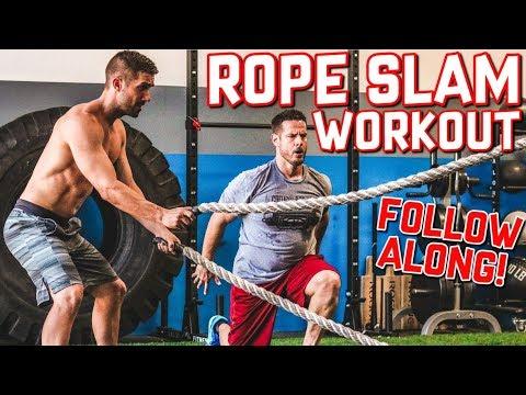 FOLLOW ALONG Rope Slam Workout (13-Minutes of FUN)