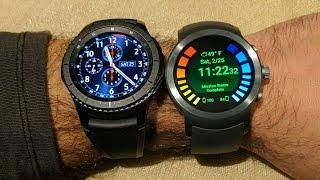 LG Watch Sport vs Samsung Gear S3 Smartwatch Comparison