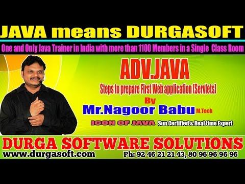 Advance Java Training | Steps to prepare First Webapplication by NagoorBabu