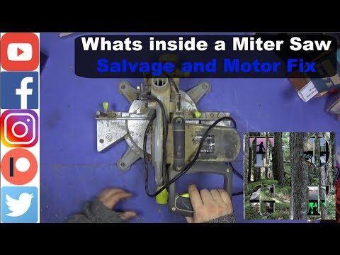 Whats inside a Miter Saw || Salvage and Motor Fix