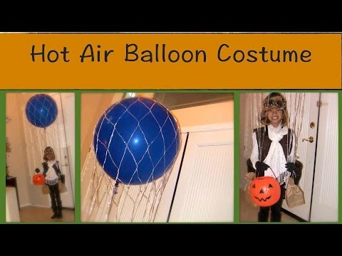 How I Made a Hot Air Balloon Costume with a Real Balloon {home made costumes}