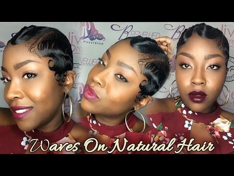 How to Wave Natural Curly Hair| Nairobi Foam Wrap