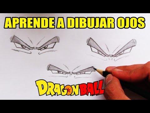 Como Dibujar OJOS estilo DragonBall - How to draw EYES DragonBall style