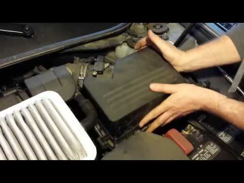 How to replace 2011 Toyota Camry Engine Air filter element change 2007-2011 4 cyl maintenance