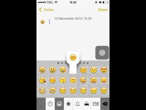 Cara Mengaktifkan Emoticons Di Keyboard iOS 7.1.2 (No Jailbreak)