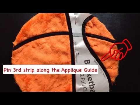 Basketball Plush Cushion Tutorial
