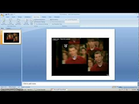 How to Embed YouTube Videos into PowerPoint (2007)