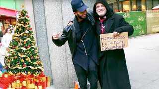 SURPRISING the Homeless with Gifts for Christmas Experiment (Social Experiment)