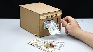 How to Make Smart Personal Bank Saving Coin and Cash