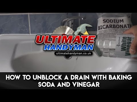 How to unblock a drain with baking soda and vinegar