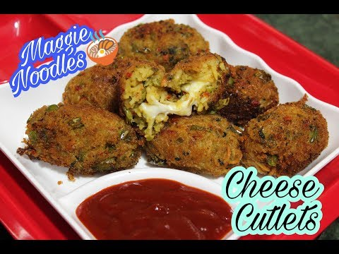 How to make MAGGI NOODLES CHEESY CUTLETS RECIPE IN HINDI by KIRTI MUTKURE