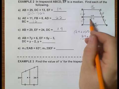 Geometry (Topic 6-4) Trapezoids