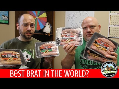 Best Brats in the World? | NEW Smokehouse Brats at County Market Taste Test
