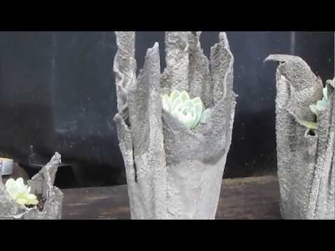 How to make Cement Planters. Plus fairy houses n miniature mushrooms.