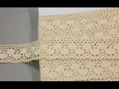 lace trim cotton cream beige 1.25 inches