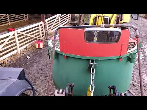 tractor pan concrete mixer test