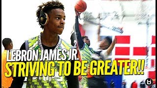 13 Year Old LeBron James Jr. Striving To Be GREATER!! Full Swish n Dish Tournament Highlights!
