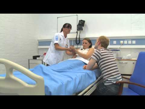 How to take a maternal radial pulse and record respirations