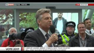 Jeremy Corbyn silences his supporters as they boo ITV journalist