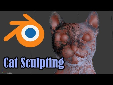 Sculpting a Cat in Blender [Timelapse]