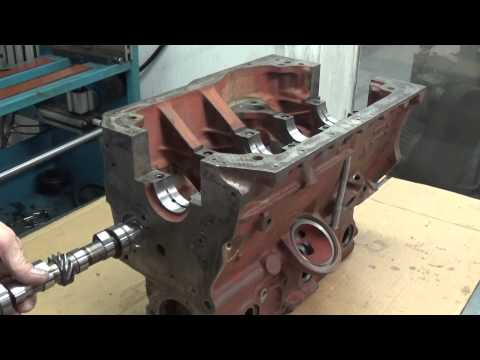 MAW MGB project, cam bearing installation