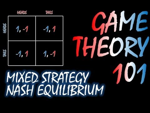 Game Theory 101 MOOC (#7): Mixed Strategy Nash Equilibrium and Matching Pennies
