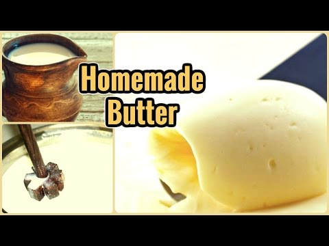 Homemade Butter from Milk cream
