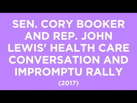 Sen. Cory Booker and Rep. John Lewis' Health Care Conversation and Impromptu Rally 20170626