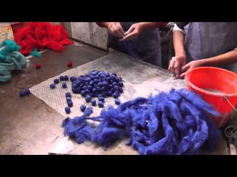 BlooM 100% Wool yoga bag - the making off ...