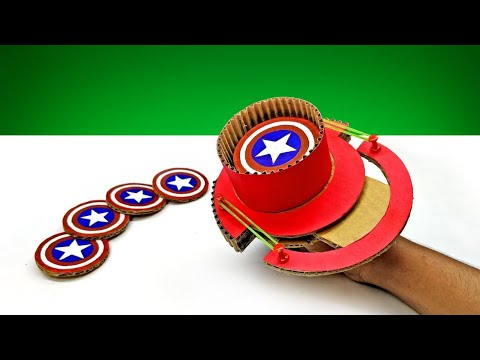 How To Make Captain America Shield Thrower DIY