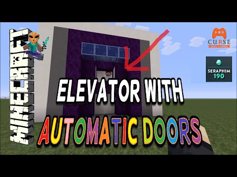 Minecraft: Elevator With Automatic Doors!!!!  PS3 / PS4 / XBOX ( TUTORIAL ) EP:506