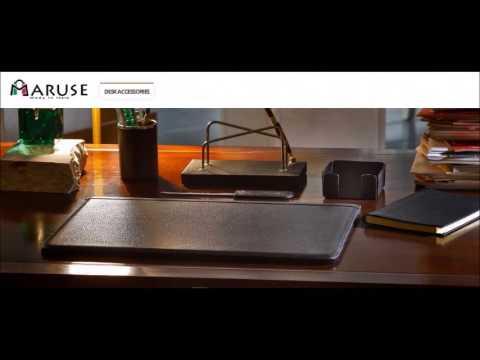 Italian Leather Desk Pad and Desk Set – Maruse