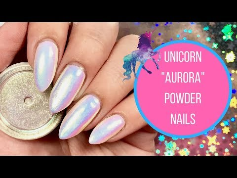Aurora Unicorn Pigment Nail Tutorial!