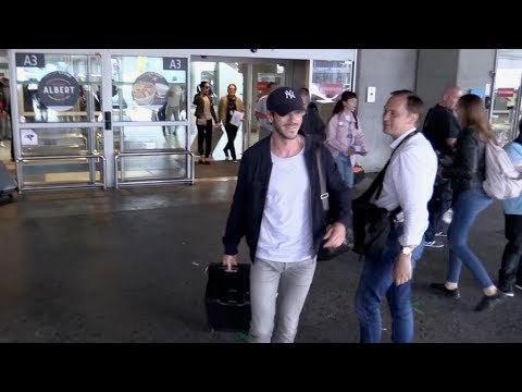 EXCLUSIVE : Gaspard Ulliel arriving at Nice airport for Cannes Film Festival