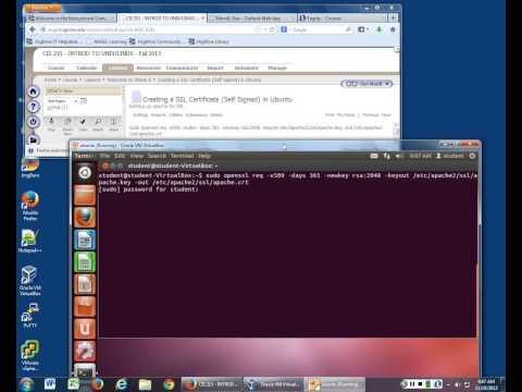 Creating a Self Signed Certificate in Ubuntu
