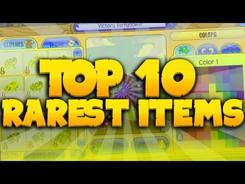 Top 10 Rarest Items in Animal Jam - In Depth (2015)