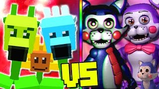 """PLANTS VS ZOMBIES"" VS ""FNAF FIVE NIGHTS AT CANDY"