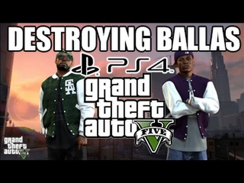 GTA 5 First Person Destroying  Ballas (GTA 5 PS4 GAMEPLAY)