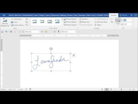 Short Video: Save Image of Signature as AutoText entry in Word