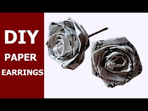 Flower earrings from book paper !