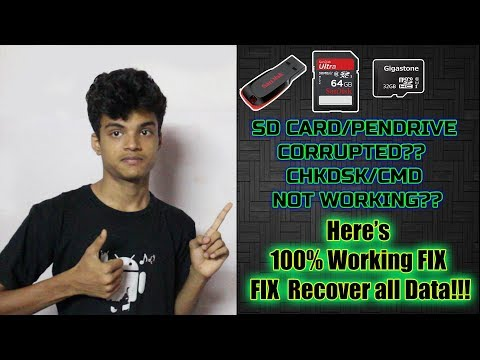 Recover all Data from Corrupted SD CARD/ PENDRIVE [Raw Drive] | CMD/CHKDSK not working..