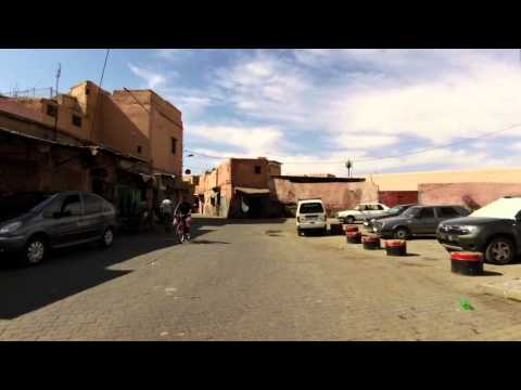 Me driving motorbike in Marrakesh - Morocco